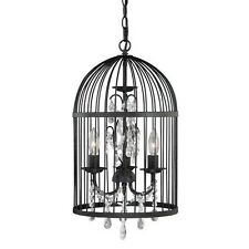 Crystal 3 Light Cage Chandelier