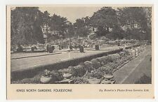 Folkestone, Kings North Gardens Hamlin Postcard, A697