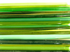 1lb Devardi Glass Rods Lampwork COE 104, Mixed Greens