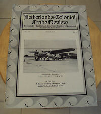 RARE 1934 TRADE Review~NETHERLANDS-COLONIAL~PC States~Airplane FOKKER F XX~
