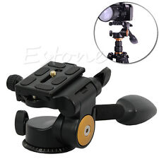 360° Q08 3-Way Fluid Head Rocker Arm Video Tripod Ball Head+ Quick Release Plate