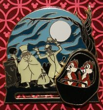 Disney Haunted Mansion Hitch Hiking Ghosts and Chip and Dale SLIDER Pin NEW OC
