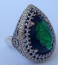 Turkish Handmade Hurrem Sultan 925 Sterling Silver Rings Size 7.5 (Resizable)