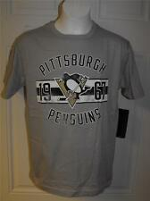 NEW-MENDED PITTSBURGH PENGUINS YOUTH Medium M 10-12 ADIDAS T-SHIRT 25CN