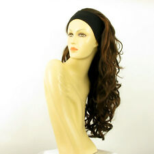 headband wig woman long wavy chocolate copper wick ref: KAMELYA 6H30