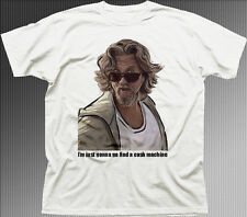 Big Lebowski The Dude funny Cash Machine Bunnie white cotton t-shirt 9840