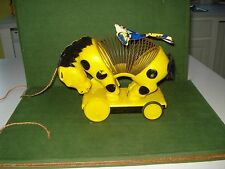 EARLY 1960's SLINKY HORSE AND RIDER PULL TOY, JAMES INDUSTRIES, INC. NICE