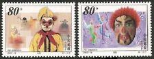 China 2000-19-Puppets & Masks Jointly Brasil,  compl.Set-MNH, Mi.Nr.3180-81**