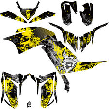 DFR FOLD GRAPHIC KIT YELLOW SIDES/FENDERS 09-12 YAMAHA RAPTOR RAPTOR700 700