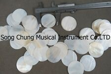 """20Pcs (1.54""""round) decorate Inlay material white mother of pearl shell blanks"""