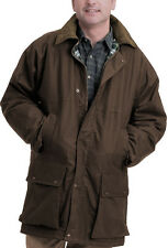 GAME British Padded Country Wax Cotton Rain Jacket | Quilted Coat