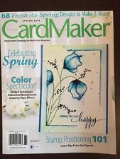 CARD MAKER Stamping Papercraft cardmaking Spring 2016 FREE SHIPPING