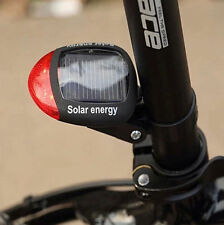 Solar Powered Bike Bicycle Rear Back Safety Light 3 Function LED Tail Lamp Red