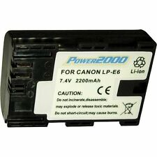 Power2000 LP-E6 LPE6 Rechargeable Battery for Canon SLR EOS 60D 70D, 6D, 7D