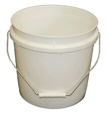 Plastic Bucket Base Pail With Handle 20 Litre White  Lids Listed Separately