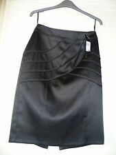 EVIE COLECTION BLACK SATIN PENCIL SKIRT,UK 8-10-EU 38,BRAND NEW WITH TAGS