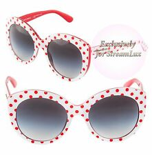DOLCE & GABBANA POIS Sunglasses DG 4227 2875/8G Polka Dots White Red