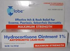 Hydrocortisone Ointment 1% Maximum Strength Anti-Itch 1oz Tube