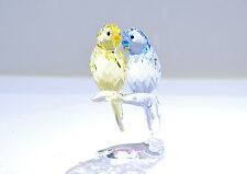 Swarovski Budgies Yellow Purple Love Bird Wedding Gift 5004725 Brand New In Box