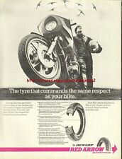 Dunlop Red Arrow Tyres Motorcycle 1977 Magazine Advert #1036