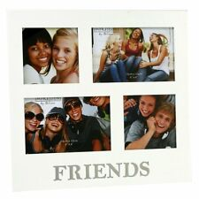 "Friends White Multi Aperture 4 Photo Frame 6"" x 4"" Photos Frames Gift Idea"