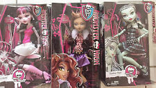 "MONSTER HIGH SET OF 3 FRIGHTFULLY TALL GHOULS 17"" CLAWDEEN, FRANKIE, DRACULAURA"