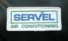 SERVEL AIR CONDITIONING EMBROIDERED SEW ON ONLY PATCH COMPANY ADVERTISING