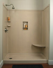 """Bathtub to Shower Conversion Cultured Marble 60"""" x 32"""" (MADE IN USA)"""