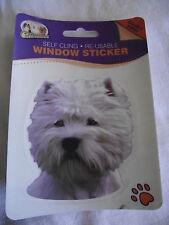 Sticker repositionnable - chien  WEST HIGHLAND TERRIER BIS