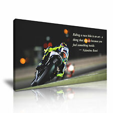 Ducati MOTO GP Valentino Rossi Quote Canvas Wall Art Picture Print 60x30cm