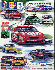 Tenth Annual Bud At The Glen August 10-13 1995 Program Jeff Burton EX 040416jhe