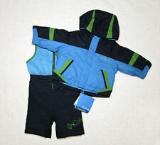 NEW! COLUMBIA SNOWSUIT - 6 MONTH BUGABOO - BLUE/GREEN - SNOW JACKET BIB PANTS