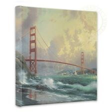 "Thomas Kinkade - San Fran, Golden Gate Bridge – 14"" x 14"" Gallery Wrapped Canvas"