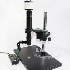 400X Zoom Coaxial Light Monocular C-mount Microscope Lens USB VGA AV Camera PCB