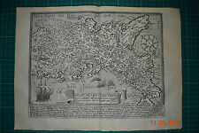 1594 Kingdom of Naples ORIG. Map by M. QUAD ITALY NAPOLI RAME scheda chiave