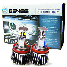 GENSSI 20W+ Angel Eyes Halo LED Bulbs White 7000K For BMW 1 3 5 X Z Series H8