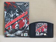 Armorines: Project S.W.A.R.M. (Nintendo 64, 1999) Game Cartridge and Manual Only