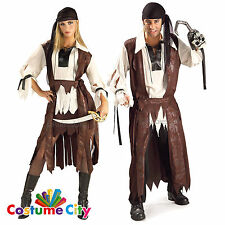 Adults Couples Caribbean Buccaneer Pirate Fancy Dress Party Halloween Costume