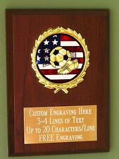 Soccer/Sport/Flag Award Plaque 4x6 Trophy FREE engraving
