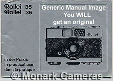 Rollei 35 LED Instruction Manual, More 35mm Camera Books & User Guides Listed