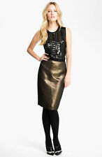 NWT Tory Burch Brandy Pencil Skirt Copper Metallic $325 - 8