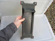 Antique Brass Stamp Vending Machine Face GPO Post Office Rail Mail Vintage 1937