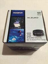 Olympus M.Zuiko Digital ED 14-42mm f/3.5-5.6 EZ Lens Black New! Retail Package!