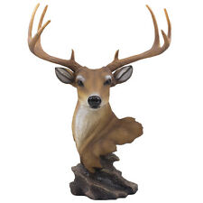 Big Buck Deer Statue 8-Point Antlers Hunting Cabin & Lodge Decor Sculpture Gifts