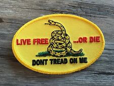 Live Free or Die Gadsden Flag Patch