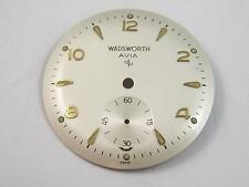 Wadsworth AVIA Swiss Watch Dial 28mm Vintage Gold Markers Subdial Pearl NOS