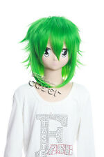 W-107 Megpoid Vocaloid Gumi Cosplay Parrucca Wig VERDE GREEN 35cm calore fisso anime