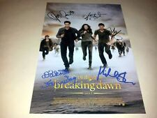 "TWILIGHT 4 : BREAKING DAWN PART 2 CAST PP SIGNED 12""X8"" POSTER ROBERT PATTINSON"