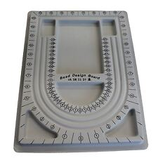 Plastic Bead Design Board for Beading Jewelry Making Designer DIY, Grey Color