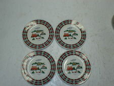 "Set of 4 Lynns Christmas at Home Fine China 7 1/2"" Dessert Bread Plates"